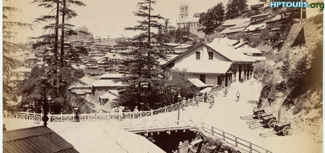 The Combermere Bridge Shimla in 1890